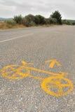 cykel 2 ingen väg Arkivfoto