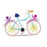 cykel stock illustrationer