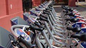 Cykel för att hyra Arkivfoton