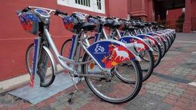 Cykel för att hyra Royaltyfri Bild