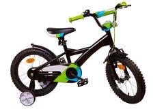 Cykel för barn som isoleras på vit bakgrund royaltyfria foton