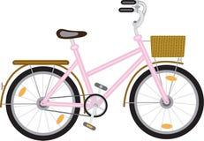 Cykel för en flicka Royaltyfri Fotografi