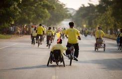 Cykel för farsaaktivitet i fadern Day Arkivfoton