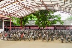 Cykel för hyra Arkivfoton