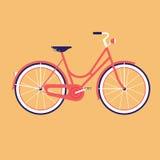 Cykel för staden Plan vektorillustration Arkivbilder