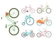 Cykel för stil för vektorcykeltappning gammal stock illustrationer