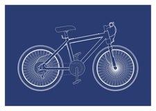 Cykel i blått tryck Vektor Illustrationer