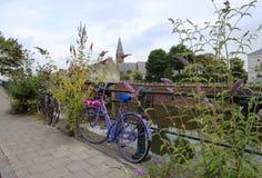 Cykel i Ghent Belgien Arkivbilder