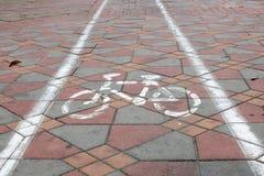 cykel långt Arkivbild