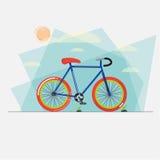 Cykel med abstrakt himmelbakgrund - Fotografering för Bildbyråer