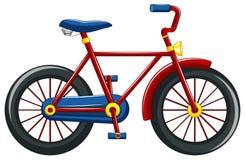 Cykel med den röda ramen royaltyfri illustrationer