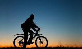 Cykel och person Royaltyfri Fotografi