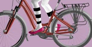 Cykel på lilor Arkivfoton
