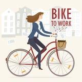 Cykel som arbetar illustrationen Royaltyfri Foto
