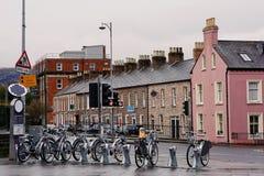 Cykel som delar i Belfast Royaltyfri Fotografi