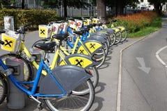 Cykel som delar i Wien Royaltyfria Foton