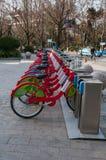 Cykel som delar intrig i Kina Arkivbilder