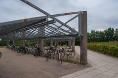 Cykel som utgjutas i Ballerup Danmark Arkivbilder