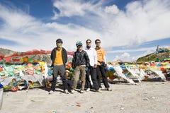 cykel tibet som trip Fotografering för Bildbyråer