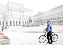 cykelaffärsman arkivbild