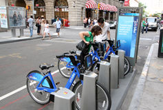 Cykelaktie NYC Royaltyfria Bilder