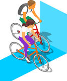 Cykelaktivitetsfolk Royaltyfri Bild