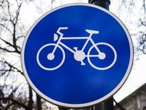 Cykelbanatecken royaltyfria foton