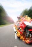 cykelbrand Fotografering för Bildbyråer