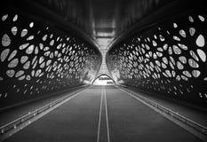 Cykelbro i Antwerp, Belgien arkivfoton