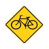 cykelcrossingvägmärke Royaltyfri Bild