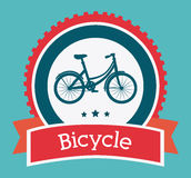 Cykeldesign stock illustrationer