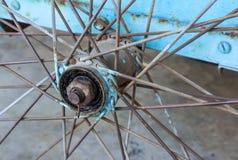 Cykeldetalj på bakgrund Royaltyfria Foton