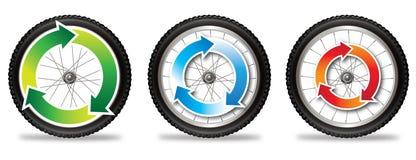 Cykelecohjul Arkivfoton