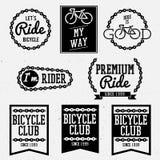Cykelemblem stock illustrationer