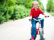 cykelflicka Arkivbild