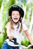 cykelflicka Arkivbilder