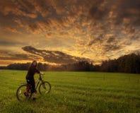 cykelflicka Arkivfoton