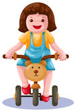 cykelflickaridning Royaltyfri Bild