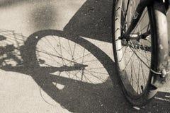 Cykelframhjul fotografering för bildbyråer