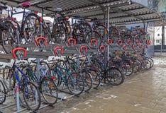 Cykelgarage Royaltyfri Fotografi
