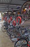 Cykelgarage Arkivbild