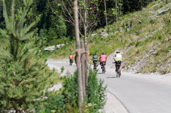 Cykelgränd: Innichen I - Lienz A Arkivbilder