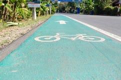 Cykelgränder royaltyfri bild