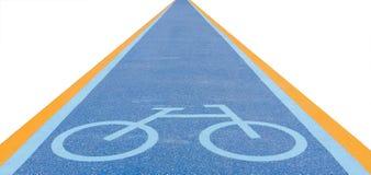 Cykelgrändtecken Royaltyfri Fotografi