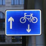 Cykelgrändtecken Fotografering för Bildbyråer