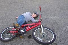 cykelhaveri Fotografering för Bildbyråer