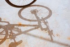 Cykelhjul och skugga royaltyfria foton