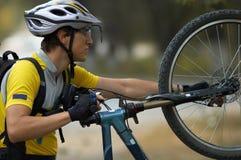 cykelinställning - upp Royaltyfria Bilder
