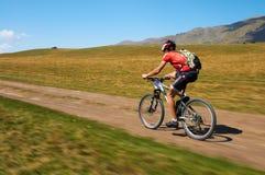 cykelkonkurrensberg Arkivfoton