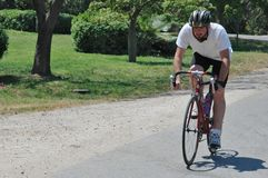 cykellandsridning Royaltyfria Foton